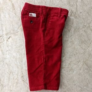 Janie & Jack Crimson Red Corduroy Pants